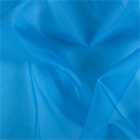 Bright Blue Silk Organza