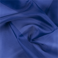 Blue Silk Organza