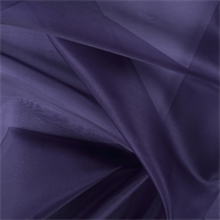 Dark Purple Silk Organza