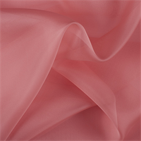 Coral Orange Silk Organza