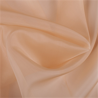 Peach Silk Organza