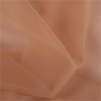 Light Orange Silk Organza