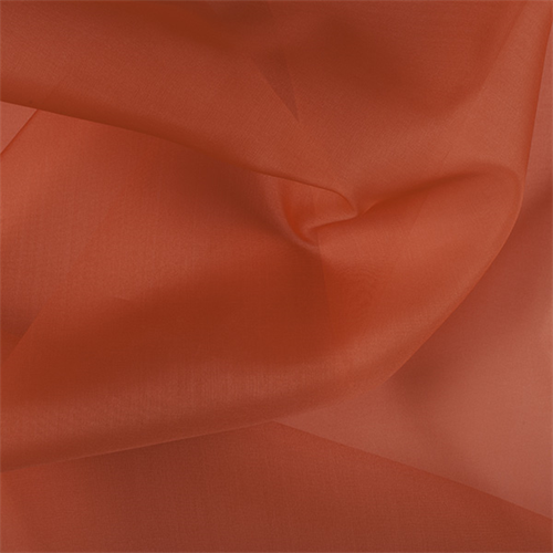 45 Wide 100/% Silk Organza Coral Orange by the yard 3000M162