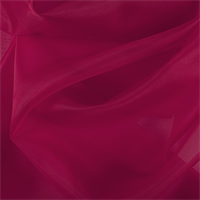 Bright Red Silk Organza