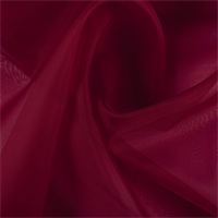 Dark Red Silk Organza