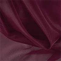 Burgundy Silk Organza