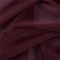 Dark Brick Red Silk Organza