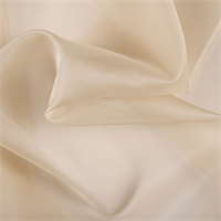 Golden Tan Silk Organza