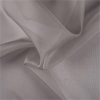 Taupe Silk Organza