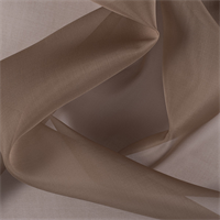 Brown Silk Organza