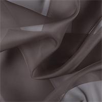 Dark Taupe Silk Organza