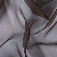 Dark Brown Silk Organza