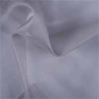 Silver Gray Silk Organza