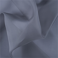 Gray Silk Organza