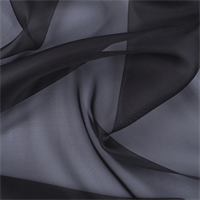Dark Gray Silk Organza