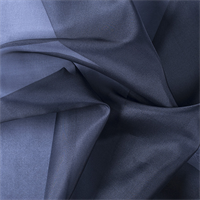 Midnight Navy Silk Organza