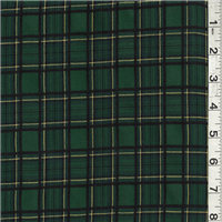 *3 1/4 YD PC--Green Multi Plaid Suiting