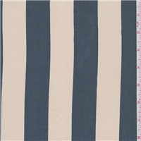 *1 3/8 YD PC--Slate Blue/Beige Stripe Broadcloth