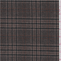 *1 1/8 YD PC--Cocoa Brown Plaid Coating