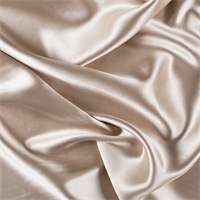 Beige Silk Crepe Back Satin