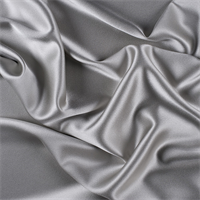 Light Gray Silk Crepe Back Satin