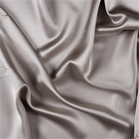 Light Taupe Silk Crepe Back Satin