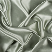 Dark Sage Silk Crepe Back Satin