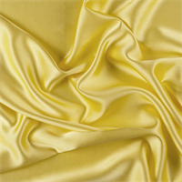 Bright Yellow Silk Crepe Back Satin