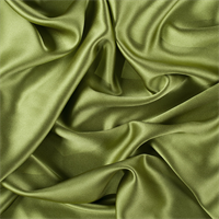Apple Green Silk Crepe Back Satin