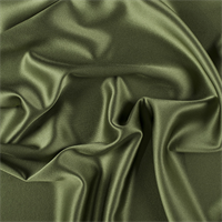 Grass Green Silk Crepe Back Satin