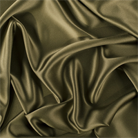 Moss Green Silk Crepe Back Satin