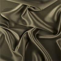 Olive Green Silk Crepe Back Satin