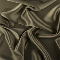 Olive Green Silk Crepe Back Satin