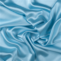 Aqua Silk Crepe Back Satin
