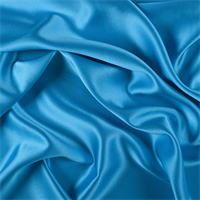 Turquoise Silk Crepe Back Satin