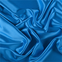 Bright Blue Silk Crepe Back Satin