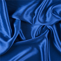 Blue Silk Crepe Back Satin