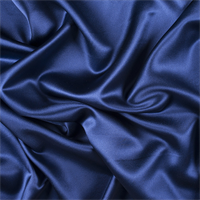 Dark Blue Silk Crepe Back Satin