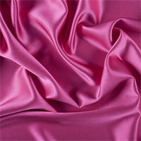Fuschia Silk Crepe Back Satin