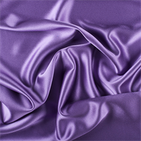 Violet Silk Crepe Back Satin