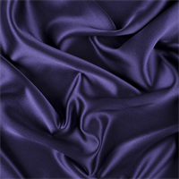 Dark Purple Silk Crepe Back Satin