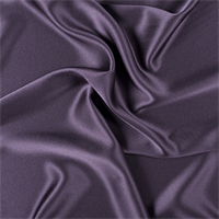 Eggplant Silk Crepe Back Satin