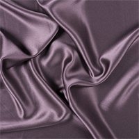 Aubergine Silk Crepe Back Satin