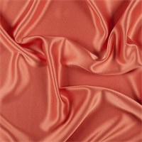 Tangerine Silk Crepe Back Satin