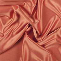 Orange Silk Crepe Back Satin