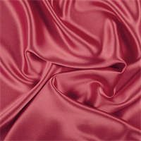 Bright Red Silk Crepe Back Satin