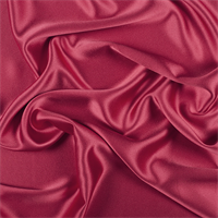 Dark Red Silk Crepe Back Satin