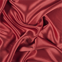 Red Silk Crepe Back Satin