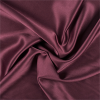 Burgundy Silk Crepe Back Satin