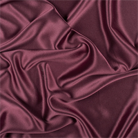 Wine Silk Crepe Back Satin